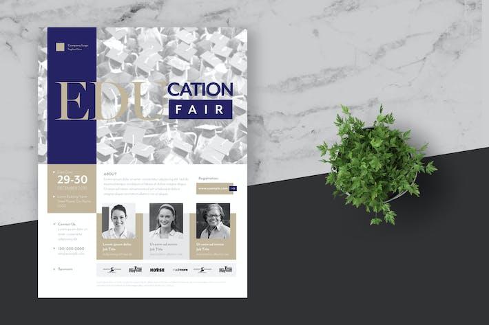 Thumbnail for Education Fair Event Flyer Poster