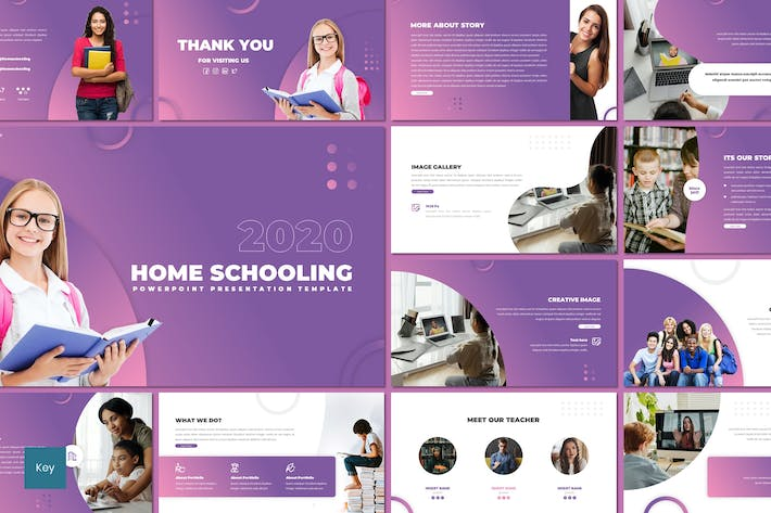Thumbnail for Home Schooling - Education Keynote Template