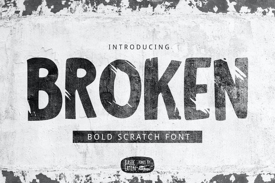 Broken Font