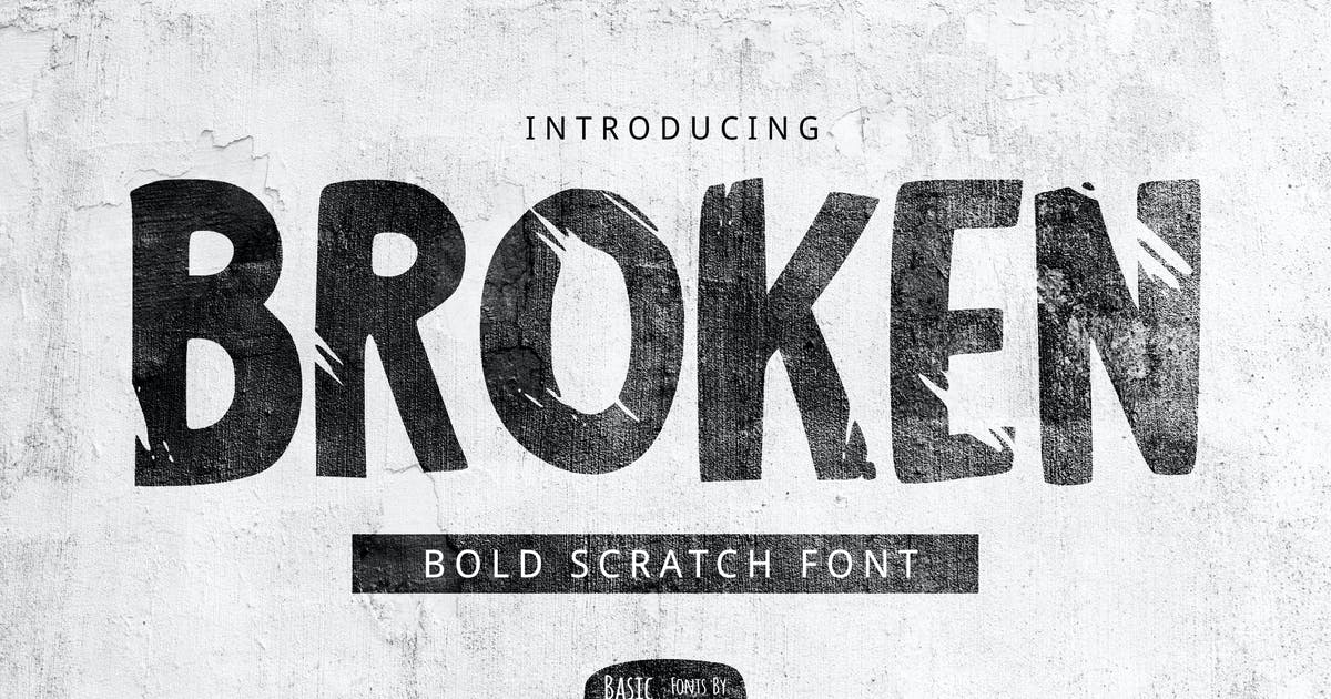 Download Broken Font by yandidesigns