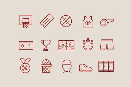 15 Basketball Icons