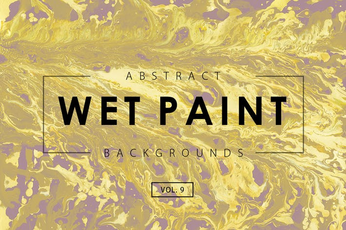 Cover Image For Wet Paint Backgrounds Vol. 9