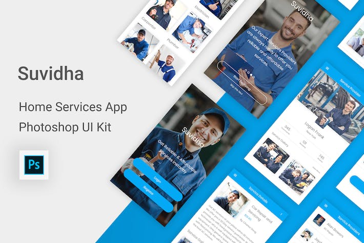 Thumbnail for Suvidha - Home Services UI Kit for Photoshop