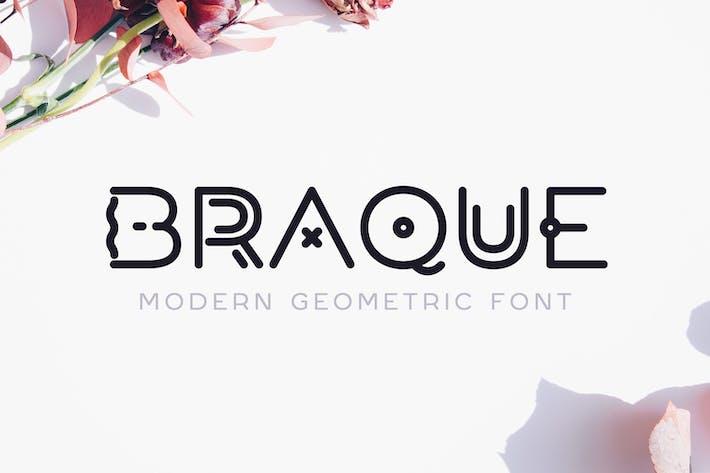 Thumbnail for Braque - Fuente moderna del Logo geométrico