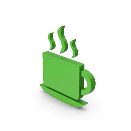 Coffee Cup Symbol Green