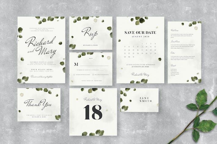 Leaves Wedding Invitation Suite