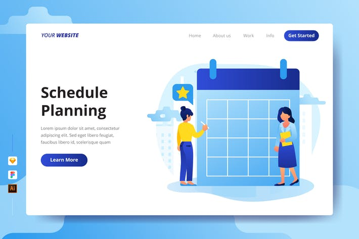 Thumbnail for Schedule Planning - Landing Page