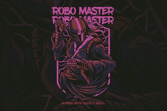 Thumbnail for Robo Master T-Shirt Design