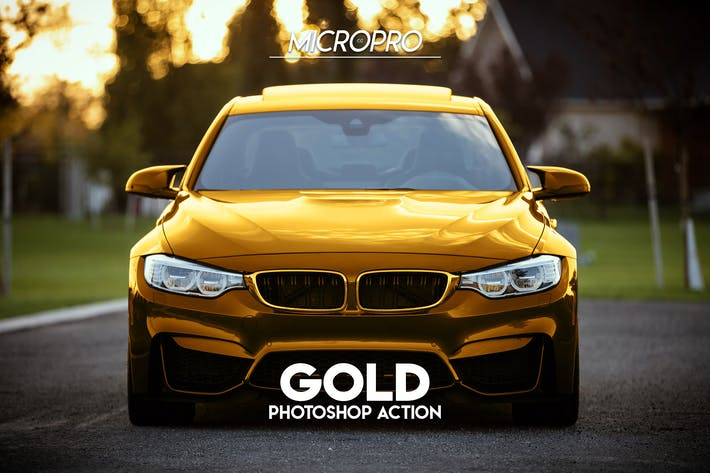 Thumbnail for MicroPro Gold Photoshop Action