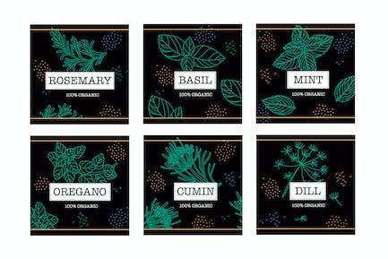 Seasoned Labels Badges