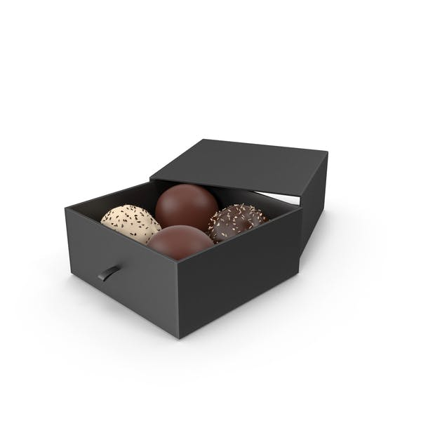 4 Assorted Chocolate with Black Gift Box