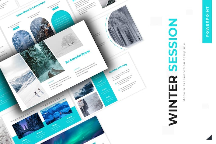 Cover Image For Winter Session  - Powerpoint Template