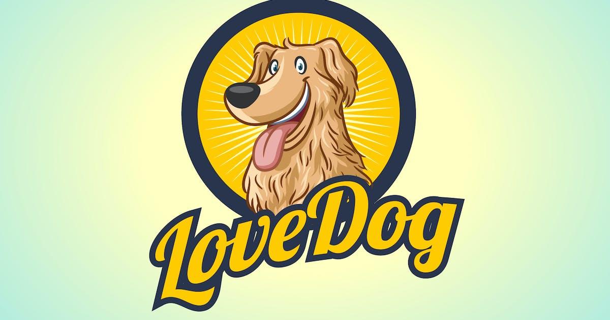 Download Happy Golden Retriever - Dog Mascot Logo by Suhandi