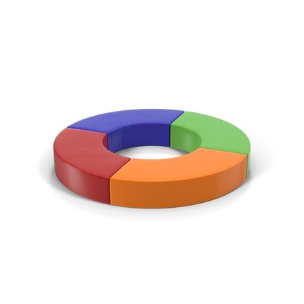 Mehrfarbiges Viertel-Donut-Diagramm