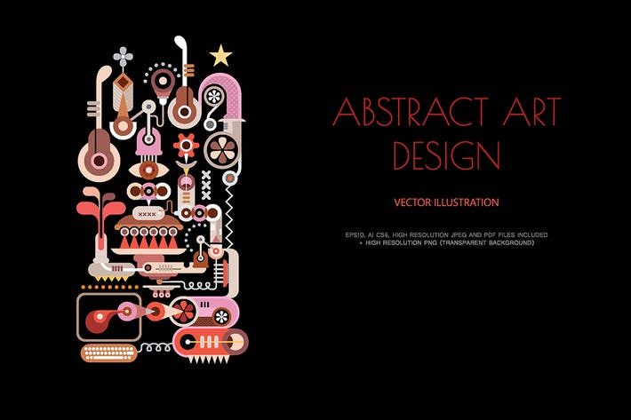 Thumbnail for Abstract Art Design vector illustration
