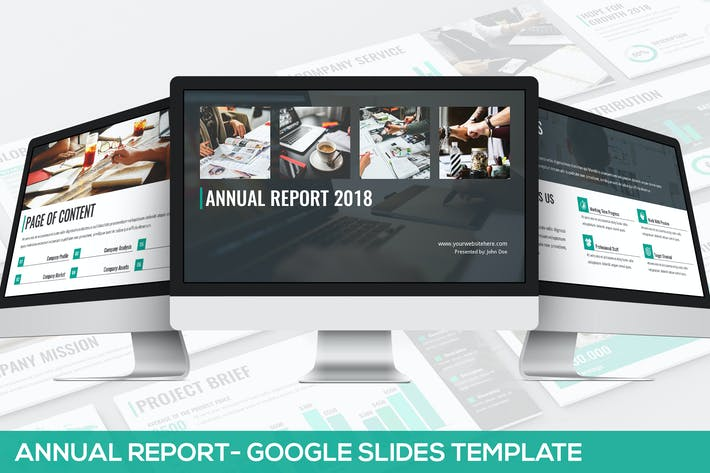 Thumbnail for Annual Report - Google Slides Template
