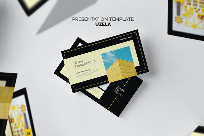 Thumbnail for Uzela : Yellow Gradient Color Tone Google Slides