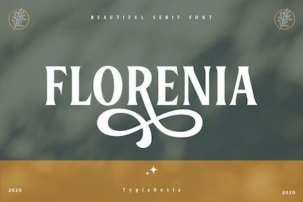 Florenia Beautiful Display Serif