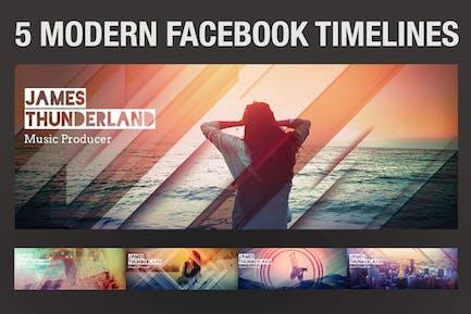 5 moderne Facebook Timeline Covers