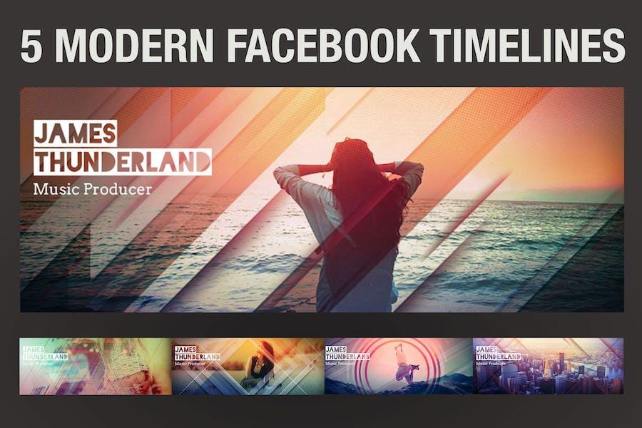 5 Modern Facebook Timeline Covers
