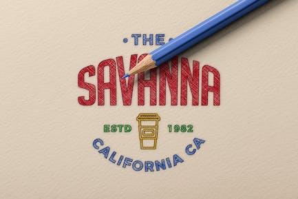 Sketching Logo Mockup