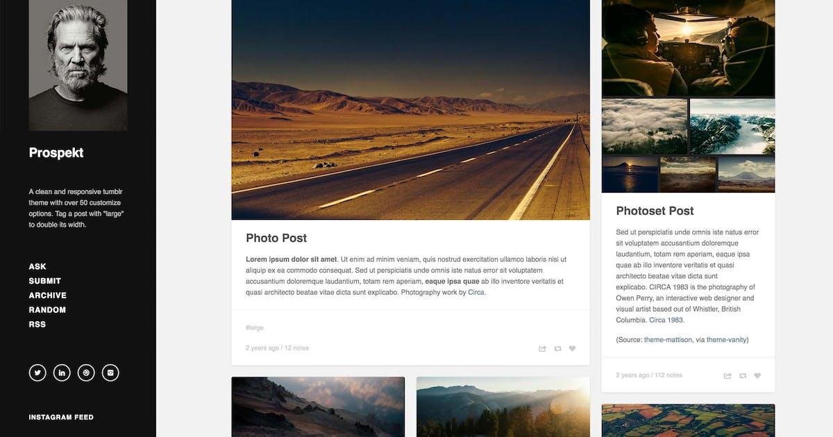 Download Prospekt - Responsive Sidebar Theme by thejenyuan
