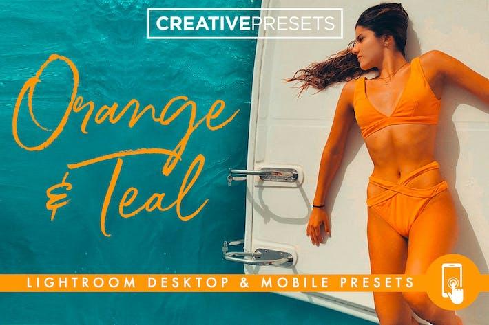 Thumbnail for Naranja y verde azulado Ajustes preestablecidos de Lightroom para Escritorio y Móvil