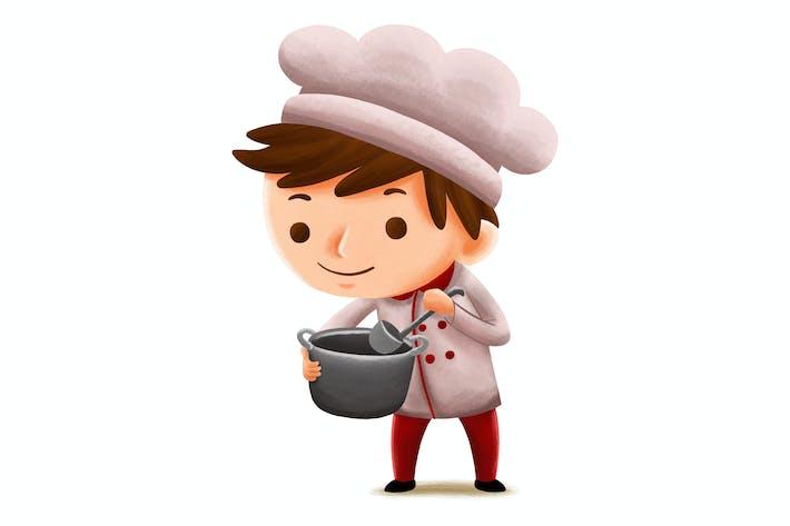 Thumbnail for Chef Profession — Kids Illustration