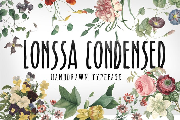 Thumbnail for Lonssa Condensed Typeface