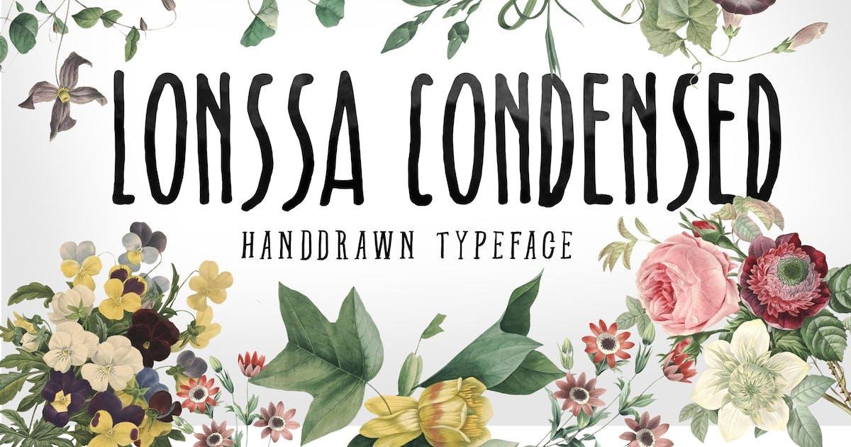 Download Lonssa Condensed Typeface by jiwstudio