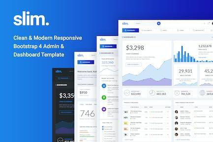 Slim Clean & Modern Bootstrap 4 Admin & Dashboard