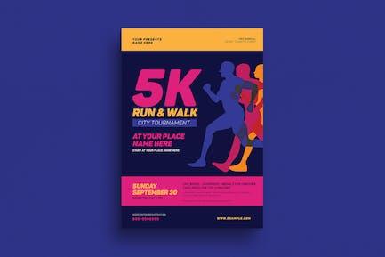 5k Run & Walk Event Flyer