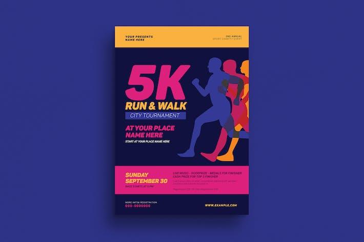 Thumbnail for dépliant d'événement Run & Walk de 5 km