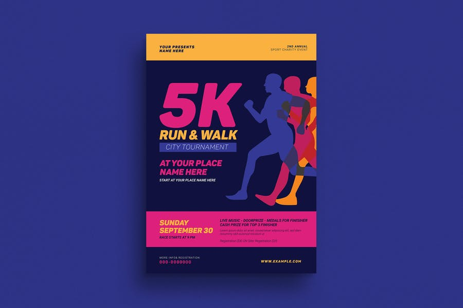 5k Run & Walk Event Flyer