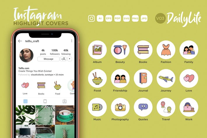 Thumbnail for Instagram Highlight Icon V03 Daily Life