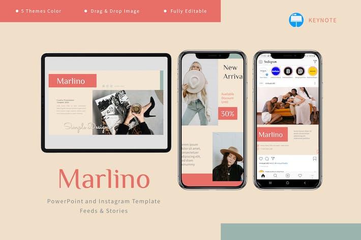 Thumbnail for Marlino - Keynote и шаблон Instagram