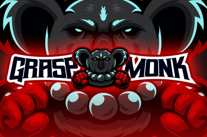 Thumbnail for Koala Monk Fighter Esport Logo