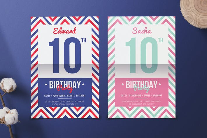 Thumbnail for Navy Birthday Invitation