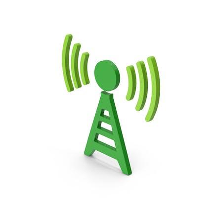 Symbol Antenna Green