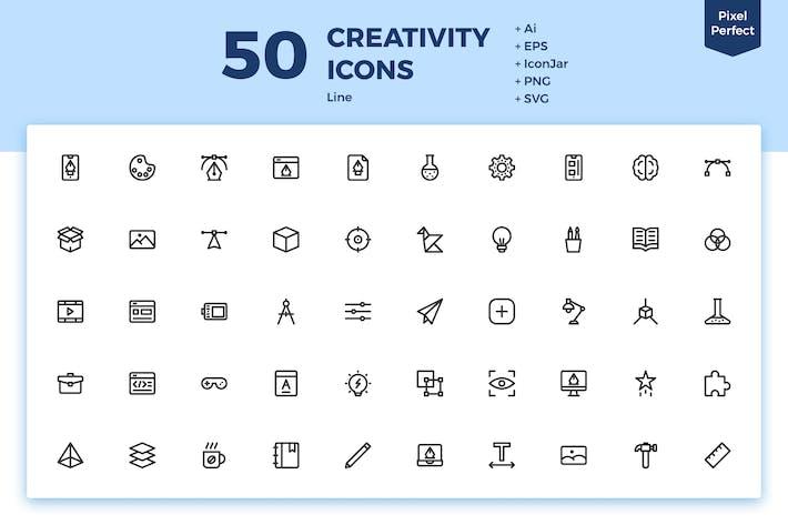 Thumbnail for 50 Íconos Creatividad (Línea)
