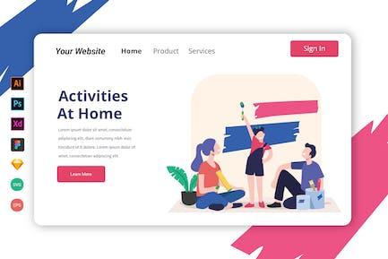 Aktivitäten auf Startseite Landing Page