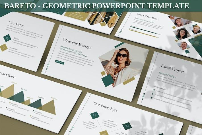 Bareto - Геометрический шаблон Powerpoint