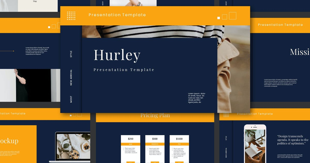 Hurley Powerpoint Template by axelartstudio