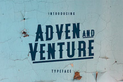 Adven and Venture Typeface
