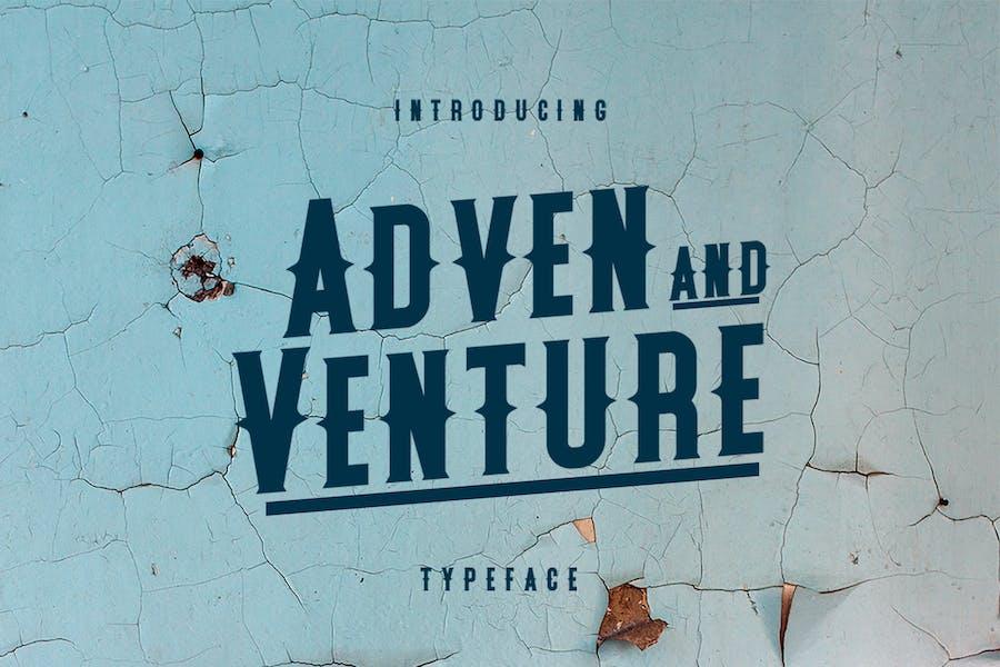 Tipo de letra Adven y Venture