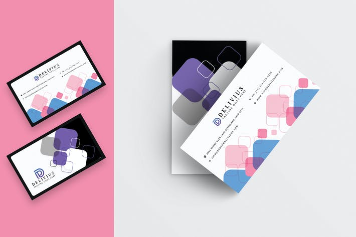 Thumbnail for Abstract Business Card Template-04
