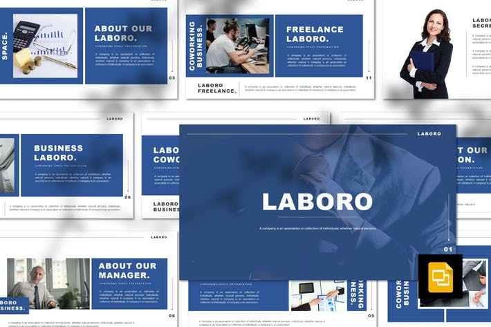 Thumbnail for Laboro - Freelancer Google Slides Template