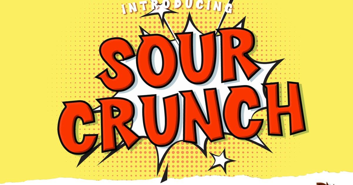 Download Sour Crunch - Comical Font by DmLetter