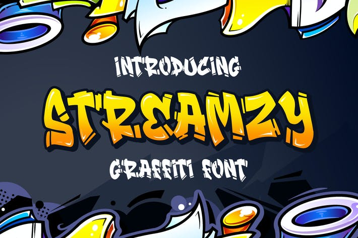 Thumbnail for Streamzy - Graffiti Font
