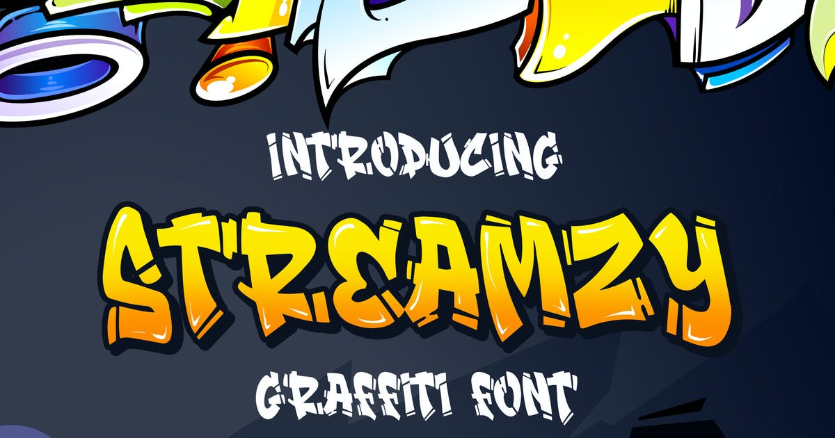 Download Streamzy - Graffiti Font by Blankids